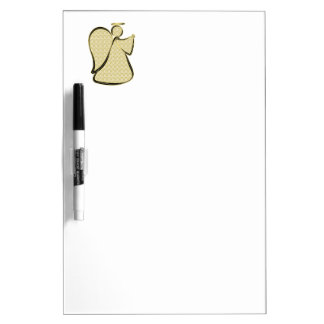 Damask Gold Abstract Angel Dry Erase Whiteboards