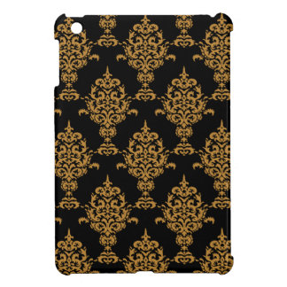 Damask Gold Black Cover For The iPad Mini