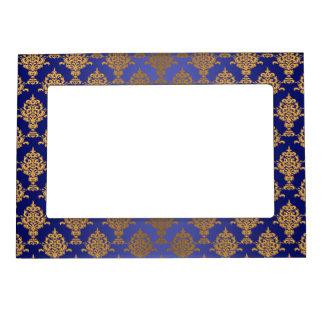 Damask Gold on Royal Blue Magnetic Frame