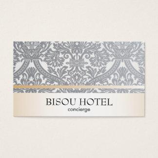 Damask & Gold Trim Business Card