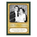 Damask Golden (50th) Anniversary Party Card