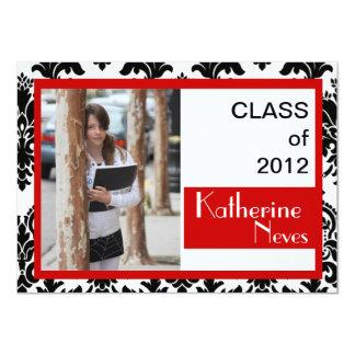 Damask Grad Portrait Class of 2012 Invitation