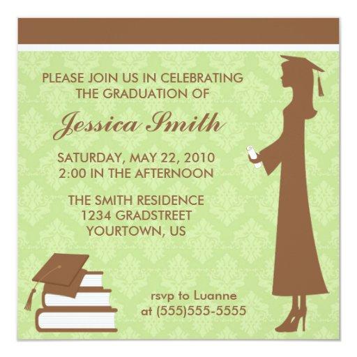 Damask Graduation Invitation