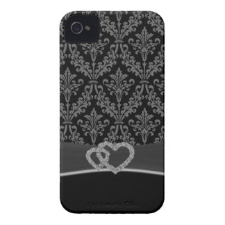 Damask gray Case-Mate iPhone 4 case
