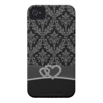 Damask gray iPhone 4 cover