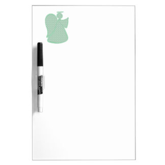 Damask Green Abstract Angel Dry Erase Boards