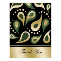 damask green ThankYou Cards