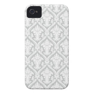 Damask Grey iPhone 4 Barely There Universal Case