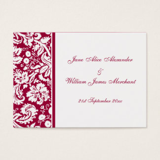 Damask Guest Book Cards, Select your color Business Card