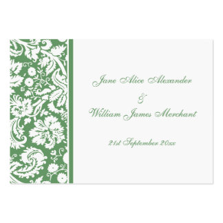 Damask Guest Book Cards, Select your color Business Card Templates