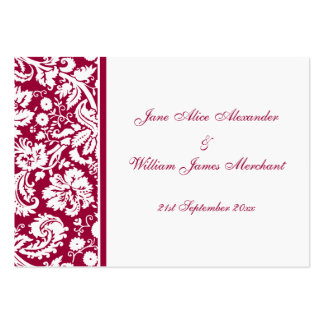 Damask Guest Book Cards, Select your color Large Business Card
