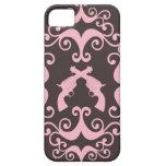 Damask guns grunge western pink goth pattern iPhone 5 cases