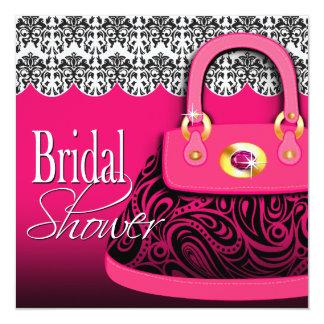 Damask Handbag Paisley Purse Bridal Shower Card
