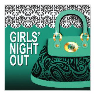 Damask Handbag Paisley Purse Girls Night Out Card