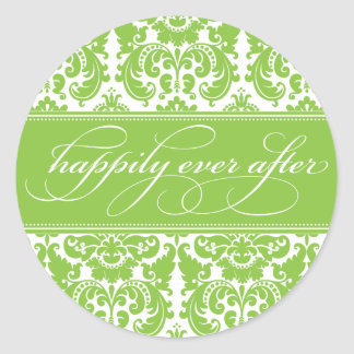 Damask Happily Ever After Sticker