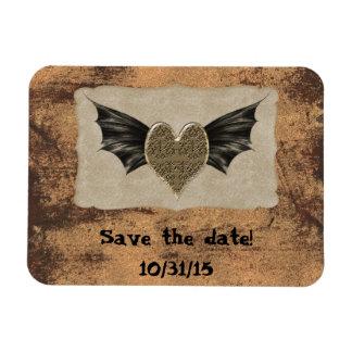 Damask Heart Steampunk Goth Wedding Magnet