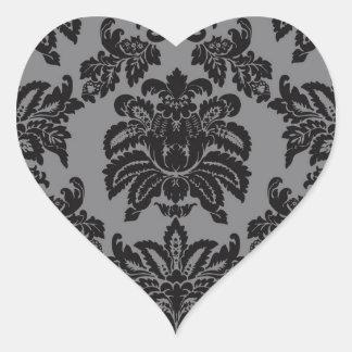 Damask Heart Sticker