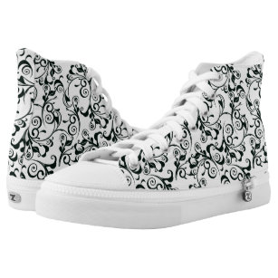 Damask High-Top Sneakers
