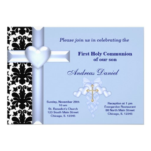 Damask Holy Communion Announcements