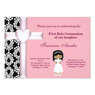 Damask Holy Communion Card