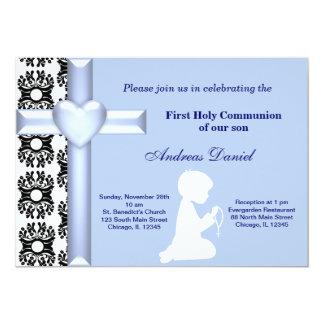 Damask Holy Communion Custom Invites