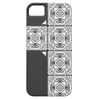 Damask Holy Half Cross Case Charcoal iPhone 5 Covers