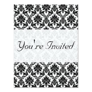 Damask home decor personalized invitation