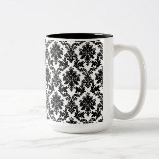 Damask home decor mug