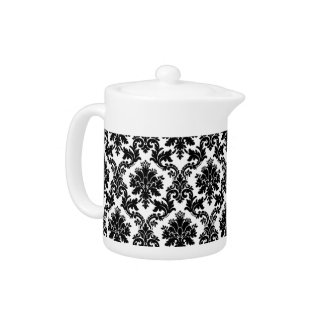 Damask home decor teapot
