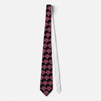 Damask honeysuckle pink floral Art nouveau tie