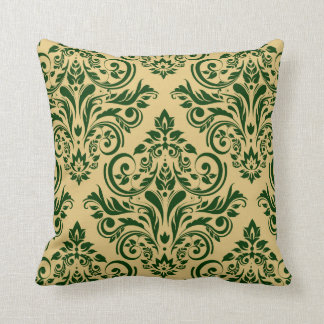 Damask - hunter green sand pillows