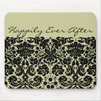 Damask In Black Mouse Pad