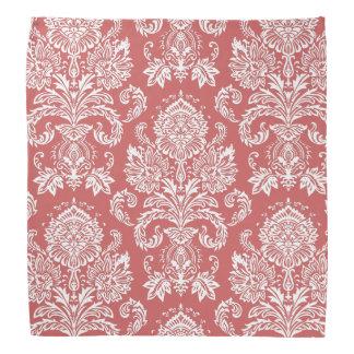 Damask Indian Red Gift Single Color Bandana