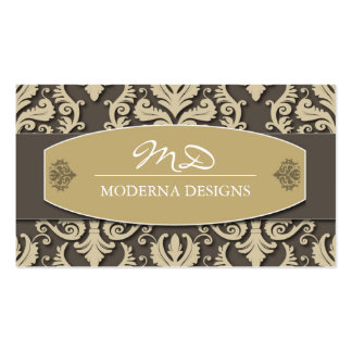 Damask Interior Decorator Business Card