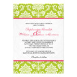Damask Invitation in Pink and Green