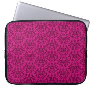 """Damask """"Kangaroo Paw"""" dark pink laptop case"""