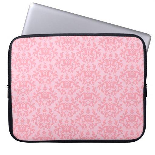 """Damask """"Kangaroo Paw"""" light pink laptop case Laptop Sleeve"""