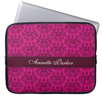 """Damask """"Kangaroo Paw"""" named dark pink laptop case Laptop Sleeves"""