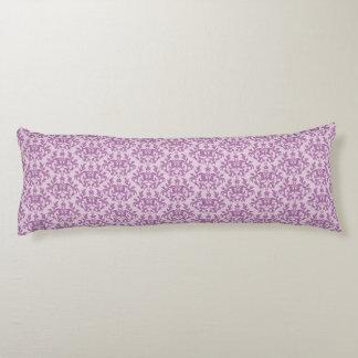 Damask Kangaroo Paws and heart lilac long pillow