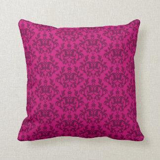 """Damask """"Kangaroo Paws"""" dark pink pillow"""