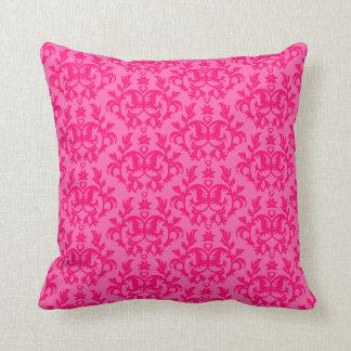 "Damask ""Kangaroo Paws"" hot pink pillow"