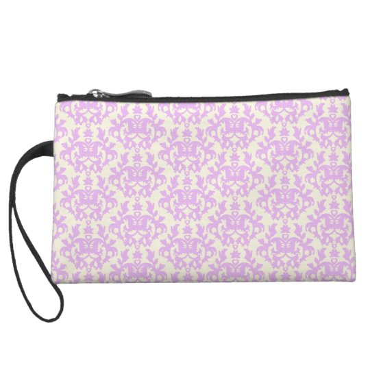 Damask kangeroo paw lilac & cream clutch bag