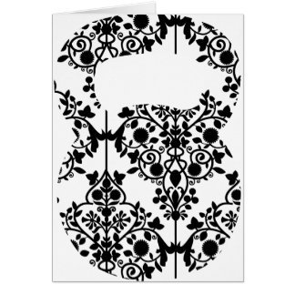 Damask Kettlebell Greeting Cards