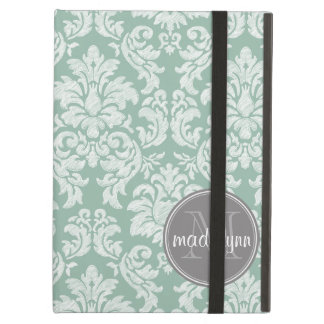 Damask Lace Pattern with Name and Monogram iPad Cover