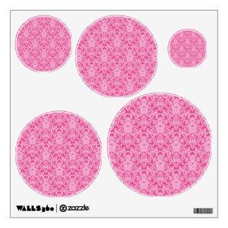 Damask Lace Pink Wall Decal