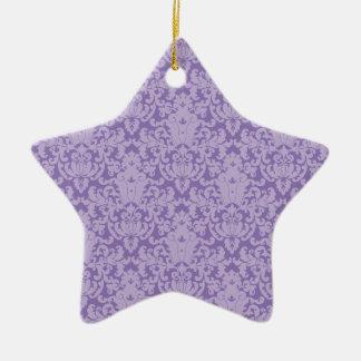Damask Lace Purple Ornaments