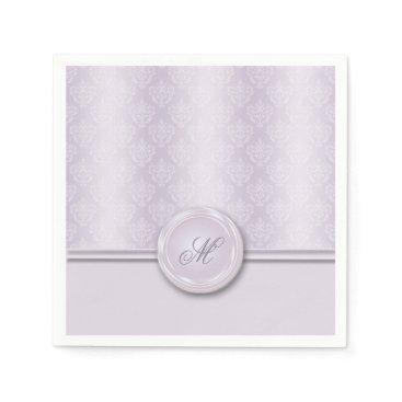 linda_mn Damask Lavender Paper Napkin