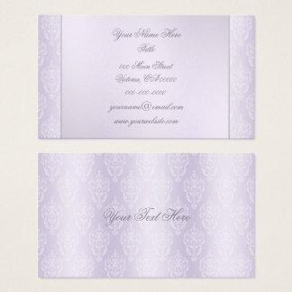 Damask Lavender Shine Business Card