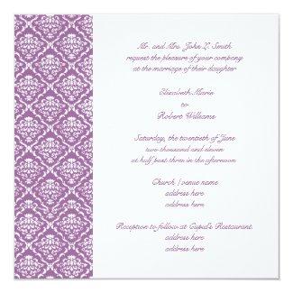 Damask Lavender Wedding Invitation