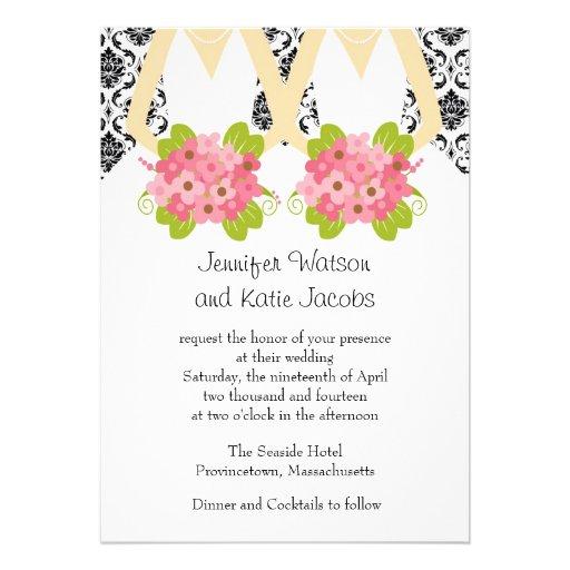 Standard Wedding Invitation Size with adorable invitation sample